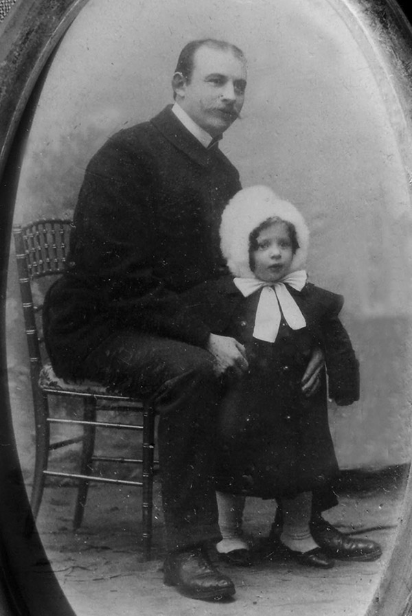 Wilhelm Hirthert mit Tochter Charlotte